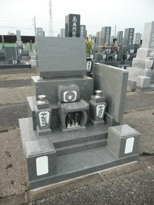 翠華洋墓供物型高台、墓誌付、翠華1㎡柱付き