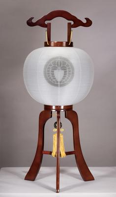 提灯(例)14-A尺一ブラウン色木製無地